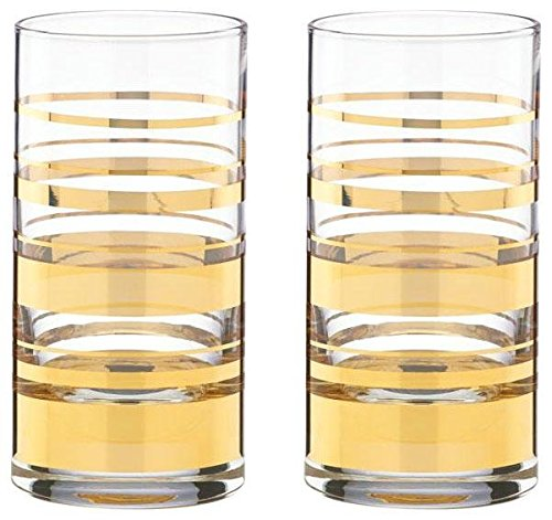 kate spade new york Hampton Street Hiball Glasses, Set of 2 - Gold