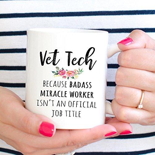 (Vet Tech Week Gift, Funny Veterinary Technician Coffee Mug,Thanksgiving Day Gifts,Christmas Gift-11 Oz)
