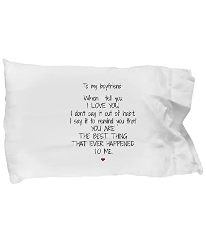 Amazon com: To My Boyfriend Pillowcase - Best Thing - Funny