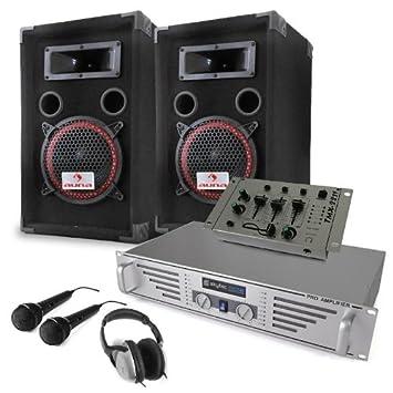 """Equipo DJ""""Starter"""" Amplificador Altavoces Mesa ..."""