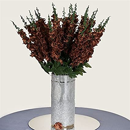 Amazon 3 Artificial Delphinium Bushes Wedding Vase Centerpiece