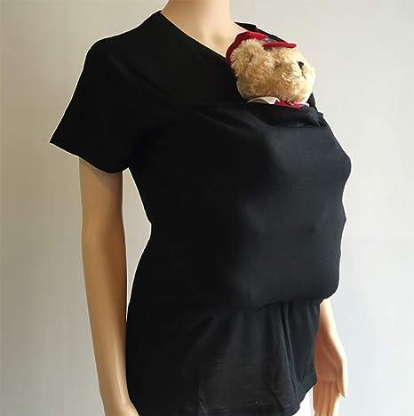 SHANGXIAN Maternity Kangaroo Mommy T-Shirt Baby Care Kangaroo Dad Pocket Tops Long sleeve Blouse Clothes