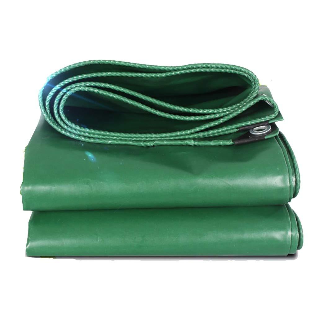LXLIGHTS Telone Impermeabile Telone tonalità Esterna Tela per La Protezione da Pioggia Sole Telone per Camion in Linoleum, Spessore 0,44 Mm 520g \ M2 (colore   verde, Dimensioni   400  400cm)
