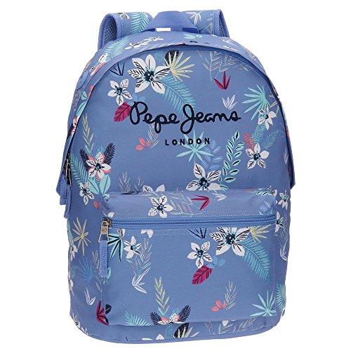Pepe Jeans 65223A1 Mireia Mochila Escolar, 42 cm, 22.79 litros, Azul: Amazon.es: Equipaje