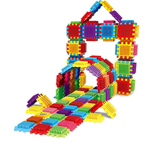 - Dimple 324Piece Set Interconnecting Stacking Building Toy Set for Boys & Girls, Makes 54 Blocks, Educational Fun, Great for Toddlers & Children
