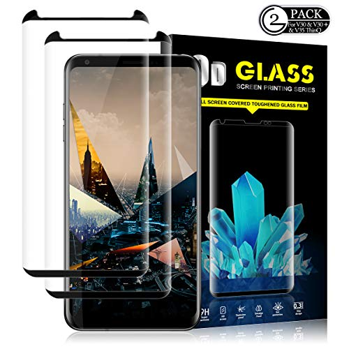 LG V35 ThinQ/V30/V30 Plus Screen Protector by YEYEBF, [2 Pack] Tempered Glass Screen Protector [3D Touch][Anti-Scratch][Case-Friendly][HD-Clear] Screen Protector Glass for LG V35 ThinQ/V30/V30 Plus