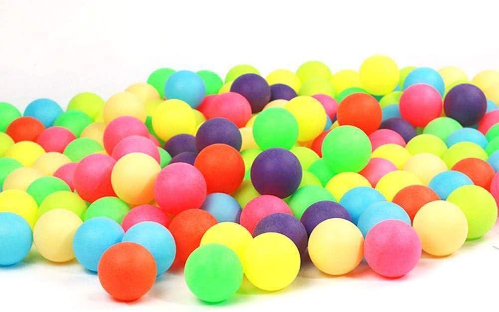 longyitrade - Juego de 100 Pelotas de Ping-Pong, Colores Surtidos de Ping-Pong para Jugar (Color Aleatorio)