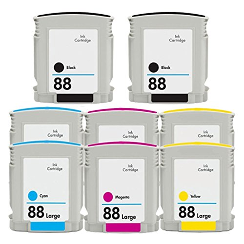 ESTON 8 PACK (2K 2C 2M 2Y) High Yield Ink Cartridge Replacement for 88XL 88 ()