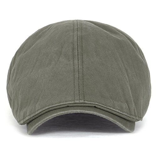 ililily Cotton washing Flat Cap Cabbie Hat Gatsby Ivy Irish Hunting Newsboy (XL-Khaki) (Waxed Cotton Irish Cap compare prices)