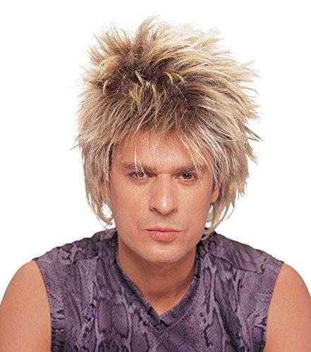 Costume Culture Men's Rocker Unisex Short Rocker Wig, Mixed Blonde, One ()