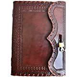 Handmade Prime Quality Leather Journal Real Lock and Key Notebook Diary Sketchbook Thought Book † 10x7 inches