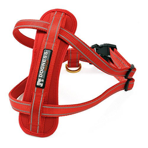 Big Sale Dogness Step In Harness With Soft Padded Chest Guard   Patented Buckle  No Pull   Reflective In Red  Blue  Flame And Pink Heart For Small Medium Large Dogs  Matching Collar Sold Separately