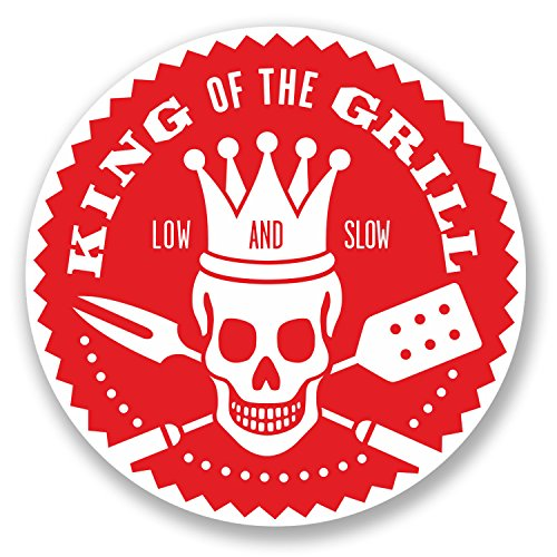 - 2 x BBQ King of the Grill Vinyl Stickers