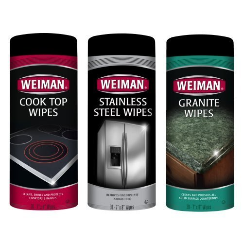 Weiman Cook Top, Stainless Steel & Granite Kitchen Cleaner 3 Pc Kit by Weiman