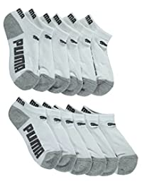 "Puma Boys' ""Side Logos"" 6-Pack Low Cut Socks"