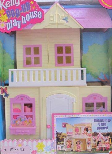 Beautiful Barbie KELLY POP UP PLAY HOUSE   3 Room PLAYHOUSE W Furniture, Backyard  Swing U0026