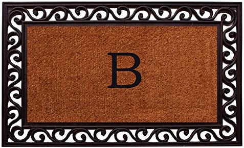 Home More 100061830B Rembrandt Monogram Doormat Letter B