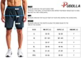 "Pudolla Men's 2 in 1 Running Shorts 7"" Quick Dry"