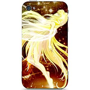 Unique Personalised Customised iPhone 5 5s Plastic Case Fairies Fairy Halo Angel
