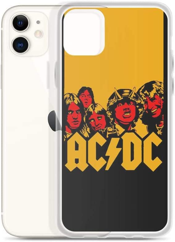 Amazon Com Fastei Compatible With Iphone 11 Case Acdcs 5 Members Group Pose Fanedited Wallpaper Australian Rocks Band Pure Clear Phone Cases Cover