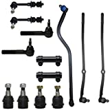 Front Upper & Lower Ball Joints Inner Outer Tie Rod Drag Link Adjustment Sleeves & Sway Bars 13pc Kit- Left & Right Side for - [2000-2002 Ram 2500 DANA 60 4x4] - 2000-2002 Dodge Ram 3500 4WD
