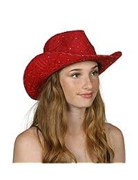 TopHeadwear Glitter Sequin Trim Cowboy Hat