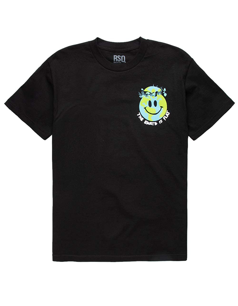 Rsq Flat Earth Black T-Shirt