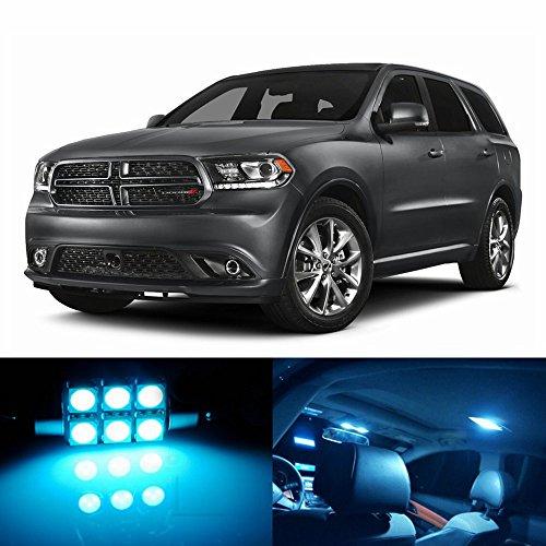 skylightauto 18pcs LED Premium ICE Blue Light Interior Package Deal for Dodge Durango 2011-2017
