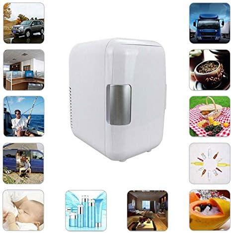 カー用品冷蔵庫ポータブル,ミュート軽量省エネデュアルユース冷却ボックスミニ冷蔵庫のためにベッドルームバー-車載旅行事務所寮アウトドアキャンプ,White