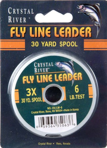 Crystal River Test Fly Line Leader, 6-Pound/30-Yard (Crystal Line Fly River)