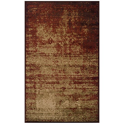 Afton 8' x 10' Auburn Area Rug, Contemporary Living Room & Bedroom Area Rug, Anti-Static and Water-Repellent for Residential or Commercial Use, 8-feet By 10-feet (Runner Matching Rug Area With)