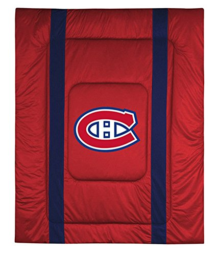 Montreal Canadiens Sideline Bedding Comforter Cover (Full/Queen) (Montreal Bedding)