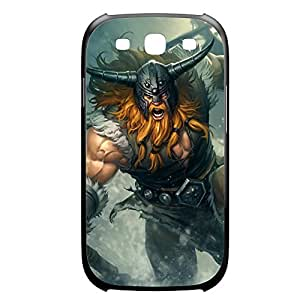 Olaf-001 League of Legends LoL case cover for Samsung Galaxy S3, I9003 - Plastic Black
