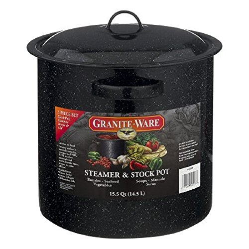 Granite-Ware Steamer & Stock Pot 15.5 Quart - 3 PC, 3.0 PIECE(S) ()