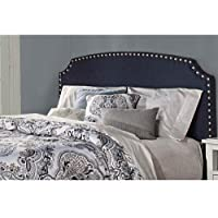Lani Upholstered Headboard - Full - Navy Linen - Headboard Frame Not Included,