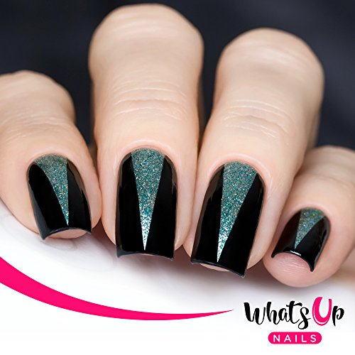 Nail Art Tape Strips: Triangle Tape Nail Stencils Stickers