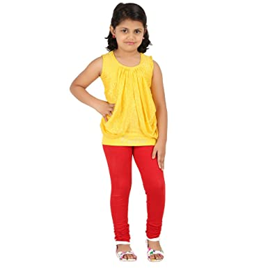 8cf9aee7a GOODTRY Girls Cotton Legging-Red (Only Leggings)  Amazon.in ...