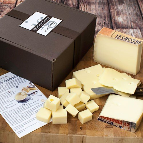Set of Swiss Fondue Cheeses in Gift Box (38.5 ounce)