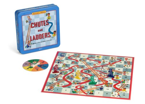 Chutes and Ladders Deluxe Board Game in Classic Nostalgia Collector's (Game Deluxe Tin)