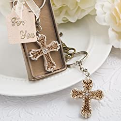 50 Vintage Design Cross Themed Key Chain