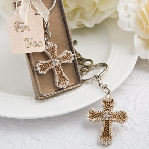 78 Vintage Design Cross Themed Key Chains Religious Favors by Fashioncraft