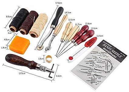 14 Kit de Costura de Cuero Artesanía Herramientas del Arte Groover ...