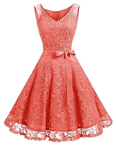 Kleid Beauty of the Damen Leader Korallenrot SwTnxzHn0