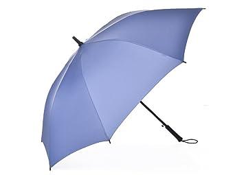 paraguas Paraguas de los hombres paraguas doble grande a prueba de viento recto paraguas sombrilla viento