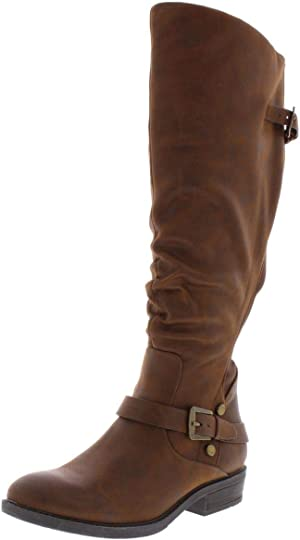 Bare Traps Womens Yanessa Almond Toe Knee High Fashion Boots