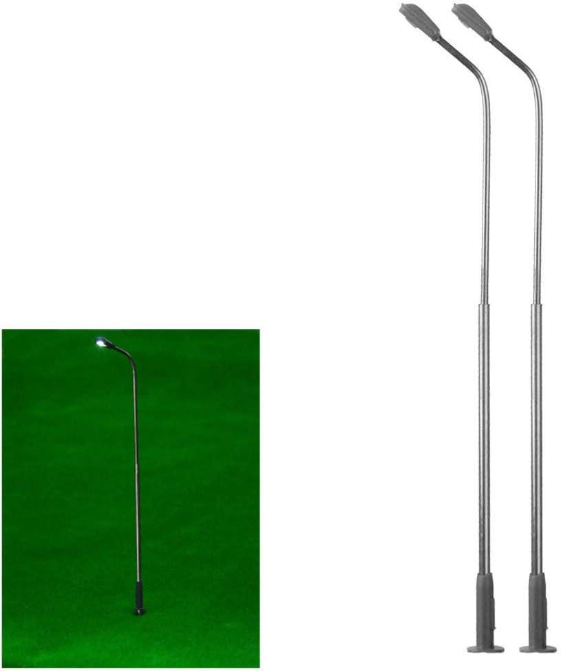 bulingbuling Luces De Calle Farola Cabeza Individual 1 Luz 150 3v Tabla De Disposici/ón Modelo del Metal De La Calle para El Modelo De Tren Casa De Mu/ñecas Accesorios 10 Piezas