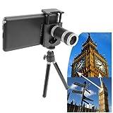 Inditradition 8X Optical Zoom Telescope Mobile Camera Lens Kit With Tripod & Adjustable Holder, Black