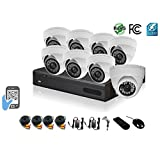 HDView 9 Channel 2.4MP 1080P HD Megapixel Security Camera Surge-Protection HD-AHD DVR Kit, with 1TB HDD, 8 x 2.4MP 1080P infrared cameras Package System