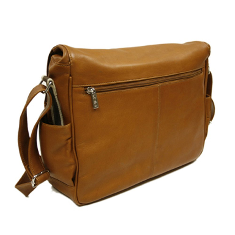 Piel Leather European Messenger One Size Chocolate
