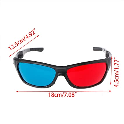 177726ce13 Image Unavailable. Image not available for. Color  Doiber 1pc Red-Blue 3D  Glasses Cyan Anaglyph Simple Style 3D Glasses 3D Movie